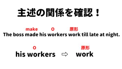 使役動詞make