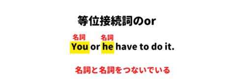 等位接続詞例文