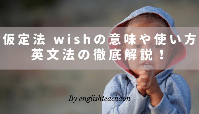 仮定法 wish